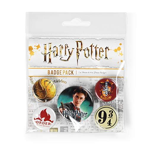 Pyramid International Harry Potter (Gryffindor) Badgepack, Mehrfarbig, 10 x 12.5 cm