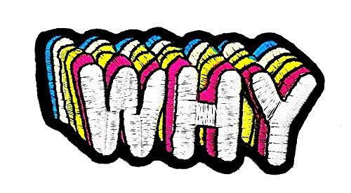 Parche bordado a mano para niños con dibujos animados de arcoíris para planchar y coser