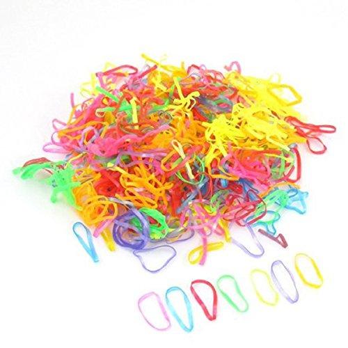 Winomo Haargummi Zopfgummi Mini elastische Pferdeschwanz Haare bindet Gummibänder - 600 Stück
