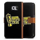DeinDesign Samsung Galaxy S6 Tasche Leder Flip Case karamell Hülle braun Borussia Dortmund Pokalsieger BVB