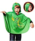 Unbekannt Kostüm -  gefährlicher Drache  - 3 bis 7 Jahre _ Gr. 98 - 128 - incl. Kapuze mit Drachenzacken - Karneval / Cape / Umhang / Kleidkind - Pulli mit Kapuze & 3..