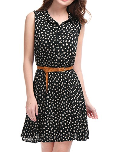 allegra-k-mesdames-bouton-imprime-au-dessus-genou-ceinture-superieure-sans-manches-robe