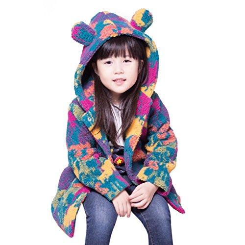 Baby Mädchen Mantel Winter Warme Fleece Schneeanzug Camouflage Langarm Jacke für 2-6 Jahre kleines Mädchen von (Für Kaltes Halloween Kostüme Kleinkind Wetter)
