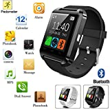 Bluetooth-Telefon-Kamerad-intelligente Armbanduhr für iPhone Samsung IOS Android_Black