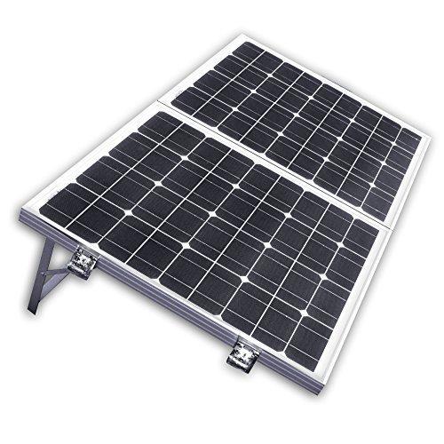 ECO-WORTHY Solarpanel 12V Solarmodul 100W Monokristallin Komplett Set Solar-Ladegerät Faltbar für Camping Wohnwagen Boot 12 V Batterie