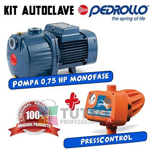 Kit Pumpe Hauswasserwerk PEDROLLO 4cpm80+ Press Control Easypress 1,5bar Tank Brunnen Garten