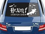 GRAZDesign 740433_57_023G Autoaufkleber Sticker Aufkleber Set für Auto Schriftzug Hexen dürfen das Hexe (100x57cm//023 creme)