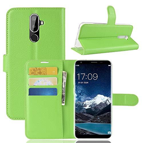 SHIEID Oukitel K5 Hülle Brieftasche Hülle Kunstleder Handyfall Handyfall Für Oukitel K5(Grün)