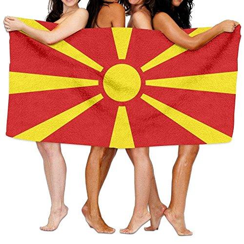 Apron beauty Strandtuch Flagge von Mazedonien 203,2x 330,2cm Weich Leicht saugfähig für Bad Schwimmbad Yoga Pilates Picknickdecke Handtücher (Fieldcrest Luxus-bad)