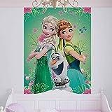 Disney Frozen Eiskönigin Elsa Anna Olaf - Forwall - Fototapete - Tapete - Fotomural - Mural Wandbild - (3085WM) - XL - 184cm x 254cm - Papier (KEIN VLIES) - 2 Pieces