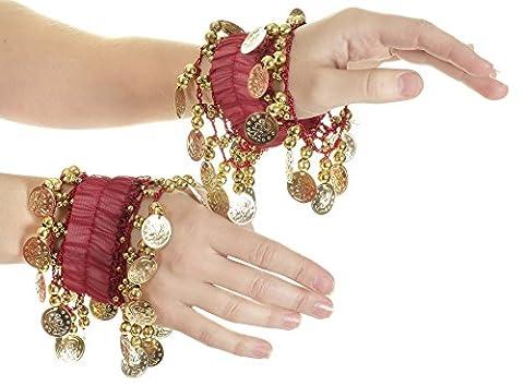 Belly Dance Wrist Cuff Bracelet (Pair)