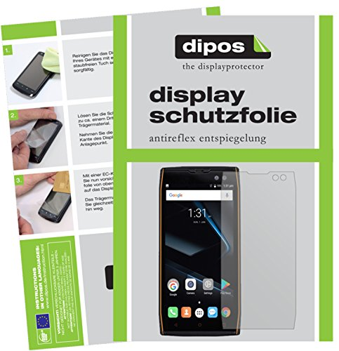 dipos I 2X Schutzfolie matt passend für Doogee S50 Folie Displayschutzfolie