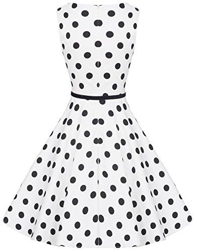 Zarlena - Robe - Femme weiß/schwarze Dots