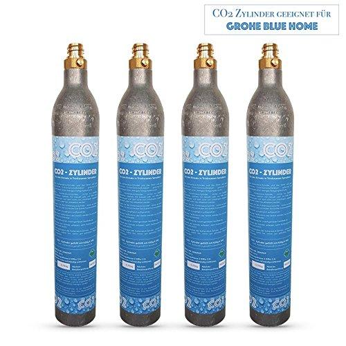 Neues wasser group 4x cilindro co2co2bottiglia adatto per acqua potabile sistema grohe blue home. nuovo e imbottito con co2.