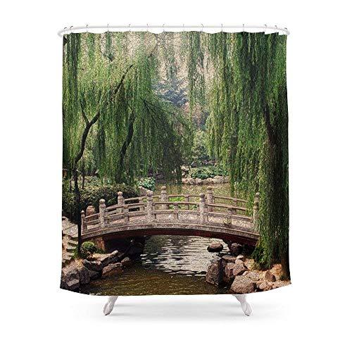 Suminla-Home Badezimmer Asiatischen Garten Dusche Vorhang 182,9cm von 182,9cm