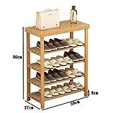 WENZHE Schuhregal Shoe Rack Schuhständer Schrank Schuhablagen Nimm Einen Stuhl Lagerung Bambus Multifunktion, 2/3/4 Etagen, 21 Größen (Farbe : 4 Layers, größe : 50cm Long)