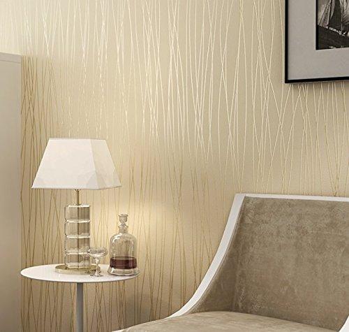 Reyqing Moderne, Einfache Ebene Streifen Non-Woven Hintergrundbild, Non-Woven Papier - Runde Mesh, Weißer Reis, Wallpaper Nur -