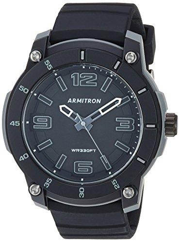 Armitron Sport 20/5304BLK - Reloj de pulsera para hombre, correa de silicona, color negro
