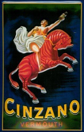 cinzano-vermouth-horse-blechschild-schild-blech-metall-metal-tin-sign-20-x-30-cm