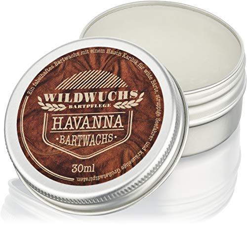 Wildwuchs Bartpflege - Bartwachs HAVANNA - Natürliches Beard Balm und Bart Balsam für einen gepflegten Bart (1 x 30 ml)