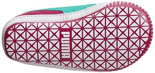 Puma Suede Crib Unisex-Kinder Sneakers Rot (cerise-pool green 07)