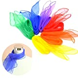 Brand New 10 x Creative Dance Woman / Band Scarves Soft, Large Juggling Scarfs (70 x 70cm)