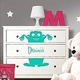 Grandora W5221 Wandtattoo Monster Dreams passend für IKEA HEMNES Kommode weiß