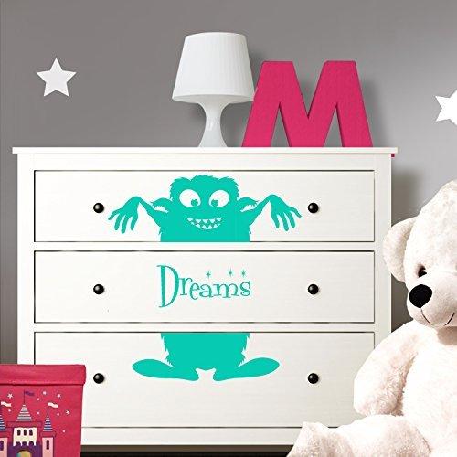 Grandora W5221 Wandtattoo Monster Dreams passend für IKEA HEMNES Kommode gold
