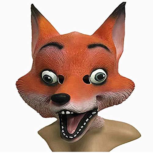 Maske Fox Helm Cosplay Kostüm Latex Halloween Party Requisite für Erwachsene/Kinder ()
