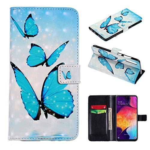 Galaxy A7 2019 / A70 Hülle Leder Flip Case Wallet Handy Samsung Galaxy A7 2019 / A70 hülle (2) (Case 2 Handy Samsung Für)