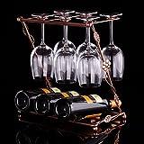 DZXYA Invertiti Wineglass swing è sospesa in ferro creative Rack di vino
