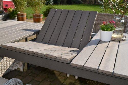Gartenmöbel Set Como 6 Tisch Ausziehbar Holzdekor Mit 6 Sessel Rattan  Polyrattan Geflecht   7 Good Looking