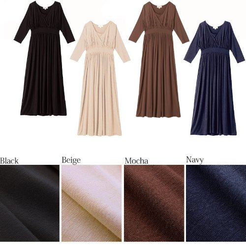 SO3074 Maxi Robe de Grossesse et Allaitement Black