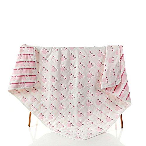 Baumwolle Infant verdeckt Kinder Decken Handtücher Baby Handtücher Weich und Cozy Baby Receiving Kuscheldecken Multi Farbe (Pink)