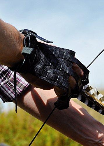 Battle-Merchant Bogenhandschuh aus Leder f/ür Linksh/änder Gr/ö/ße M oder L von Bearpaw Products LARP Bogensch/ützen Mittelalter Handschuh