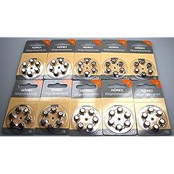 Hörgeräte Batterien 60 Stück(10x 6) Hörex Basic, Größe 13