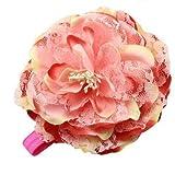NeedyBee Pink Peony Flower Elastic Headb...