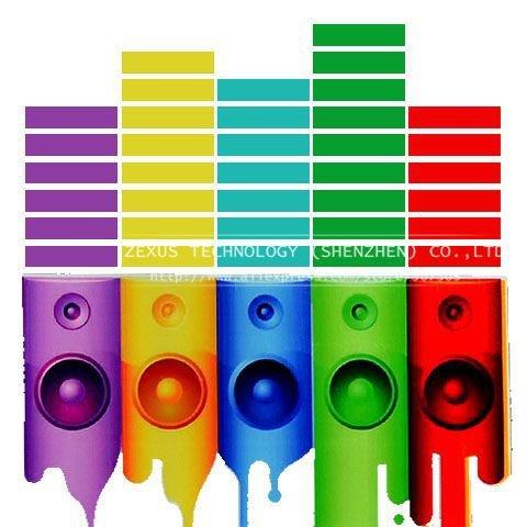 Oxita (TM) 90* 25cm Pretty Ritmo Suono attivato EL equalizzatore auto Musica Adesivo Glow Flash luce LED Multi Designs Pannello auto accessori