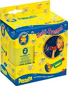 Pustefix - Multi trompeta, juego para hacer pompas de jabón, 250 ml (Carrera 420869555)