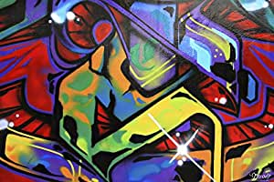 Trend import graffiti 0001 moderne fototapete mural - Wandsticker graffiti ...