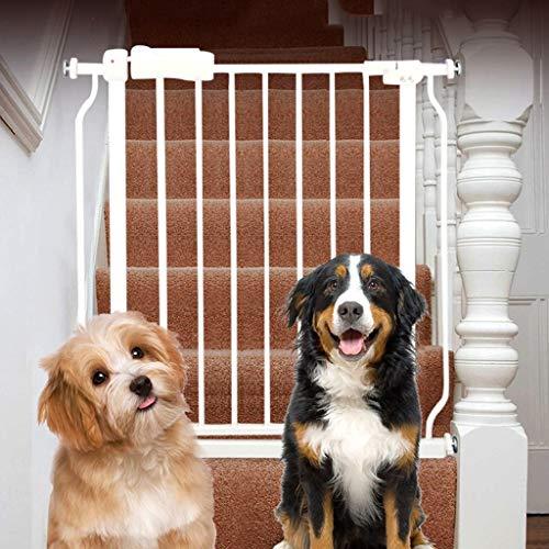 Schmale Baby-Tore für Treppe-Türen, Druck-Berg Weißes Metall-Haustier-Tor mit Katze/Hund Tür, 61-265.9cm (größe : 146-157.9cm) -