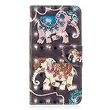 Kucosy Huawei Mate 20 Lite 3D Gemaltes Muster PU Leder Folio Brieftasche Schutzhülle Muster Bunt Malerei Tasche Hülle Anti-Scratch Handytasche Backcover für Huawei Mate 20 Lite