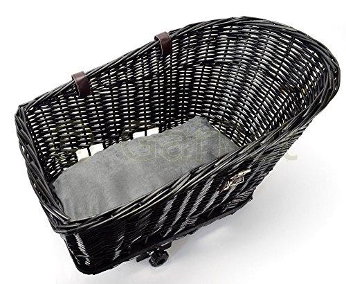 Hunde Katzen Fahrradkorb Weide Rattan Schutzgitter Gepäckträger hinten Gitter -
