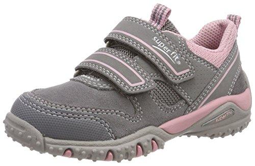 Superfit Mädchen SPORT4 Sneaker, Grau (Smoke Multi), 34 EU