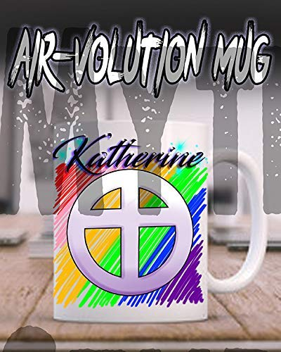 onalisierte Airbrushed Christian Kreuz Keramik-Kaffeetasse Weiß ()
