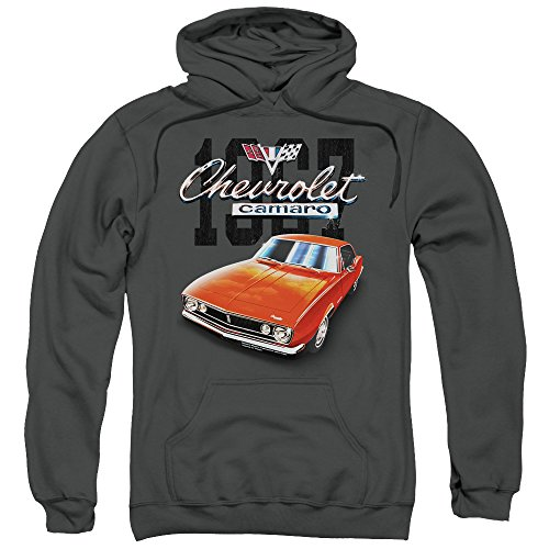 Chevrolet - - Männer Classic Camaro Hoodie, XXX-Large, Charcoal (Camaro Hoodie)