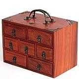 AYHa Type de tiroir en bois portable Collection Box Ménage bureau Articles divers...