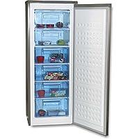 ROMMER Congelador vertical Look inox 144 cm Cv24