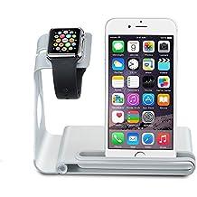Soporte para iPhone y Apple Watch,VicTsing Soporte Movil Cargador para iPhone 6,Plataforma de Cargar para Apple Watch,Soporte de Aleación de Aluminio para iPhone 7|7 plus(NO INCLUYE CABLE)