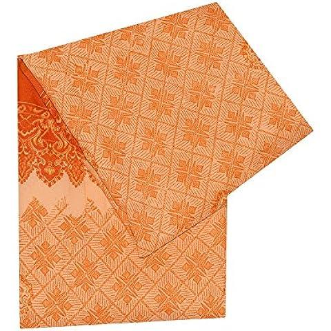 annata indiano saree usato seta cotone arte arancione sari astratto